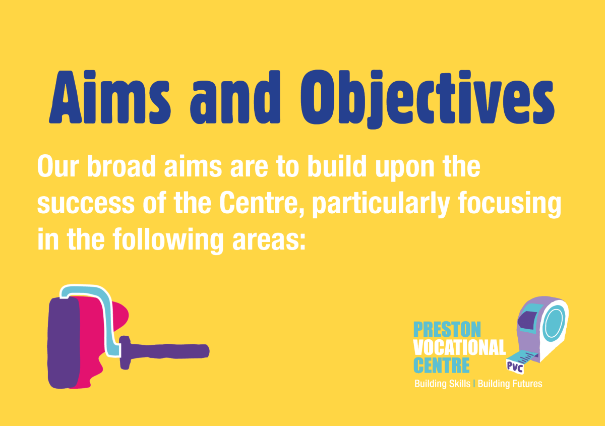 Aims and Objectives - Our broad aims are to build upon the success of the Centre, particularly in the following areas: